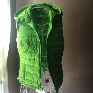 Hollister down vest with hood